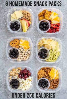 These 6 homemade snack packs under 250 calories will help keep you full with delicious crunch and sweetness all in convenient to go snack packs ad healthy healthysnacks snackpack healthyliving onthego health healthy best hummus Healthy Snacks To Buy, Snacks For Work, Healthy Meal Prep, Easy Snacks, Clean Eating Snacks, Snack Boxes Healthy, Eating Healthy, On The Go Snacks, Healthy Filling Snacks
