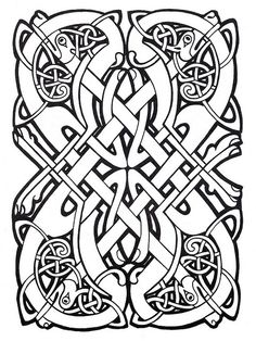 Celtic design. Looks a lot like the scrollwork on my AoA.