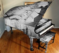 FELLERS Piano wrapped with Avery MPI 1005/DOL 1060 vinyl