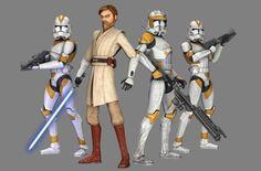 Star Wars: The Clone Wars - 7th Sky Corps, 212th Attack Battalion, Ghost Company / Jedi General Obi-Wan Kenobi