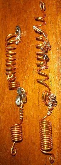 Set of 4 copper locs jewelry by FashionbellaJewelry on Etsy, $30.00