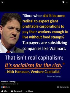 Socialism for the rich