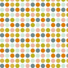 SorbetPolkaDots fabric by mrshervi for sale on Spoonflower - custom fabric, wallpaper and wall decals