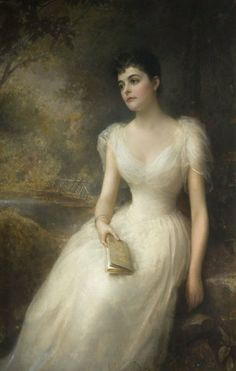 1892. Adele, Countess of Eses by Edward Hughes Beautiful layering, light as a feather material, and a gorgeous porcelain skinned lady to complement both. If only I could own one in a rose color.