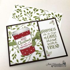 Stampin Up - Merry Cafe - Coffee Cafe - Coffee Cups Framelits - 2017 Holiday Catalog - i♥Cards2 #CoffeeArt