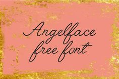 DLOLLEYS HELP: Angelface Free Font