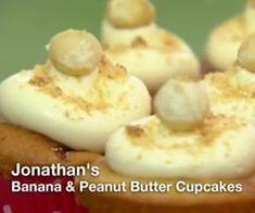 Peanut Butter Cupcakes, Peanut Butter Banana, Great British Bake Off, Pudding, Baking, Desserts, Food, Tailgate Desserts, Deserts