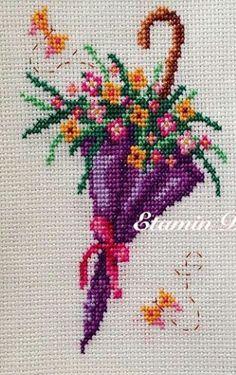 Scheme for cross stitch- Rose - Cross stitch pattern - Emb Mini Cross Stitch, Simple Cross Stitch, Cross Stitch Rose, Cross Stitch Alphabet, Cross Stitch Flowers, Cross Stitching, Cross Stitch Embroidery, Embroidery Patterns, Hand Embroidery
