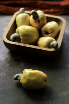 cashew fruit- we walked and picked these fresh from trees in the heat of the day, the fruit so tart it made my mouth dry