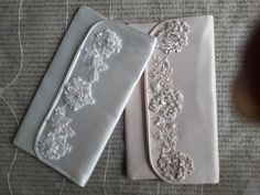 Wedding Bridal Handbag Clutch Bag Purse in Soft White or Ivory Satin with hand beaded lace embroidery to match StarDesignsShop Satin Shoes Bridal Handbags, Bridal Wedding Shoes, Satin Shoes, Handbag Stores, Purse Styles, Lace Embroidery, Beaded Lace, Crystal Beads