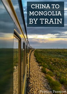 "It's a nearly 30-hour trip by train from Beijing to Ulaanbaatar, Mongolia. The sleeping cars are small and cramped. When the ""toilet"" flushes you can see the ground whizzing by below. Along the way are hours of beautiful nothingness and awe-inspiring sunsets and clouds."