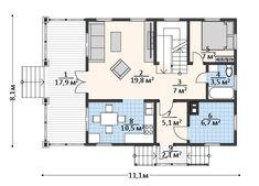 "Проект дома в стиле шале ""C144-5 Пересветик"" площадью 138.1 кв.м. - «Строй Экспресс» Log Homes, Beautiful Words, Floor Plans, Case, Timber Homes, Log Houses, Pretty Words, Log Cabin Homes, Wood Houses"