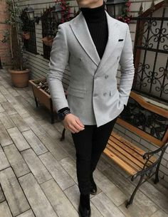 Hey are into street clothing! You should check out GentlemanToBe! And use my spe… Blazer Outfits Men, Stylish Mens Outfits, Mens Fashion Wear, Suit Fashion, Fashion Hair, Fashion Guide, Italian Mens Fashion, Best Street Style, Designer Suits For Men