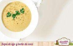 Sopa de ajo y leche de coco -  El frío ha llegado para quedarse. Éste ha provocado que nuestro menú haya cambiado sustancialmente esta última semana. Los platos fríos han sido sustituidos por otros calientes: sopas, cremas y guisos; que nos ayudan a entonar el cuerpo. Esta sopa de ajo y leche de coco es un ejemplo de ello... - http://www.lasrecetascocina.com/sopa-de-ajo-y-leche-de-coco/