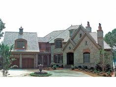 Eplans French Country House Plan - Varied Rooflines - 5831 Square Feet and 3 Bedrooms(s) from Eplans - House Plan Code HWEPL05309