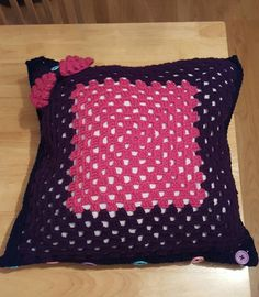 First ever cushion made in 2 evenings