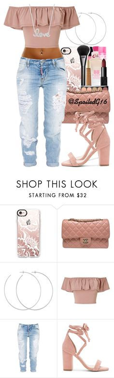 """You're Interesting to Me."" by spoiledg16 ❤ liked on Polyvore featuring Casetify, Chanel, Allison Bryan, Miss Selfridge, Dsquared2, Raye and Sydney Evan"