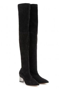 Best Over The Knee Boots For Fall and Winter. Season fave! Nicholas Kirkwood Stretch Suede Over the Knee Boots.