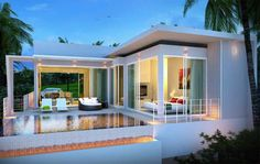 Image result for pool villa modern