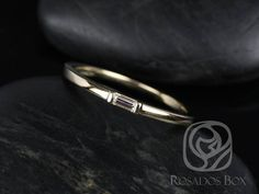 Rosados Box Michelle 14kt Yellow Gold Baguette Diamond Extra