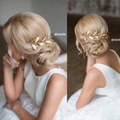or prom hair? Wedding Hair And Makeup, Bridal Hair, Hair Makeup, Wedding Updo, Fancy Hairstyles, Bride Hairstyles, Bridesmaid Hair, Prom Hair, Corte Y Color