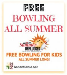 The Kids Bowl FREE program is back!! In this great program your kids can get free bowling all summer long. Sign up now and bowl for FREE!!