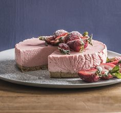 Greek style yoghurt is the secret to this light, refreshing cheesecake. You can freeze in advance, ready for those unexpected guests. Lovingly created by Annabel Langbein.