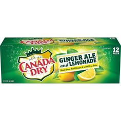 Canada Dry Ginger Ale and Lemonade, 12 fl oz cans, 12 pack Refreshing Drinks, Summer Drinks, Fun Drinks, Ginger Ale, Acacia Gum, Carbonated Drinks, Alcoholic Beverages, Taste Made