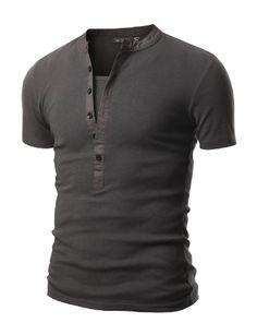 Doublju Mens Henley T-shirts with Short Sleeve CHARCOAL (US-M) Doublju,http://www.amazon.com/dp/B00BTO3JHW/ref=cm_sw_r_pi_dp_Mx1ssb1HFXSY18C1
