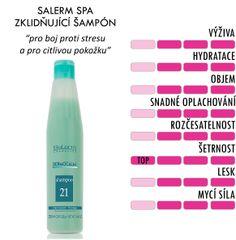Salerm Citric Balance šampón pro barvené vlasy pH 250 ml Shampoos, Keratin, Cleaning Supplies, Cosmetics, Bottle, Buxus, Cleaning Agent, Flask, Jars
