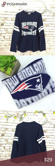 "New England Patriots NFL spirit jersey tee shirt 22"" chest measurements , great condition, bundle & save , or ask for additional discount, we add new inventory everyday, also most clothes we sell are pre loved which might have some signs of use , unless noted otherwise that's it's new or like new or has flaws NFL Tops Tees - Long Sleeve"