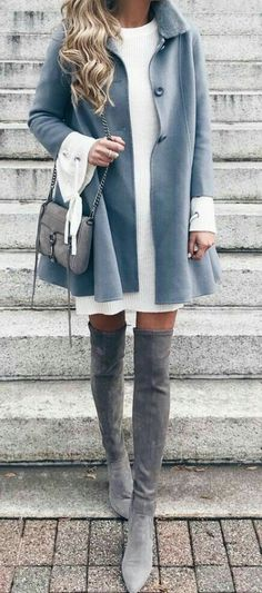 b1f4648813 The Definite Guide to Winter Outfits  55 Outfits to Copy NowWachabuy. Sweater  DressesSweater Over DressSweater ...