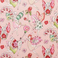 Alexander Henry House Designer - Flower Fairies - Flower Fairies in Pink/Berry