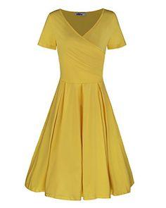 Styleword Women's Short Sleeve V Neck Casual Elegant Dres... https://www.amazon.com/dp/B0716BKD22/ref=cm_sw_r_pi_dp_x_y0Avzb4ZM0QXA