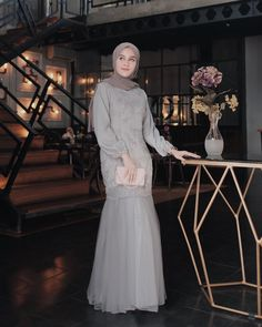 Discover recipes, home ideas, style inspiration and other ideas to try. Dress Brokat Muslim, Dress Pesta, Kebaya Muslim, Muslim Dress, Kebaya Modern Hijab, Kebaya Hijab, Hijab Gown, Hijab Dress Party, Model Dress Kebaya
