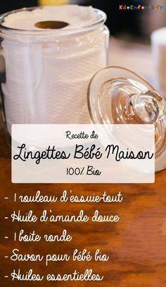 Une recette simple et 100% bio et économique pour réaliser vous-même vos propres lingettes bébé maison en utilisant des objets du quotidien : de l'essuie-tout, des huiles essentielles, de l'huile d'amande douce ou encore du savon bio pour bébé !