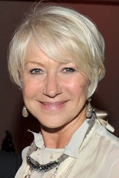 short hairstyles for older women with gray hair