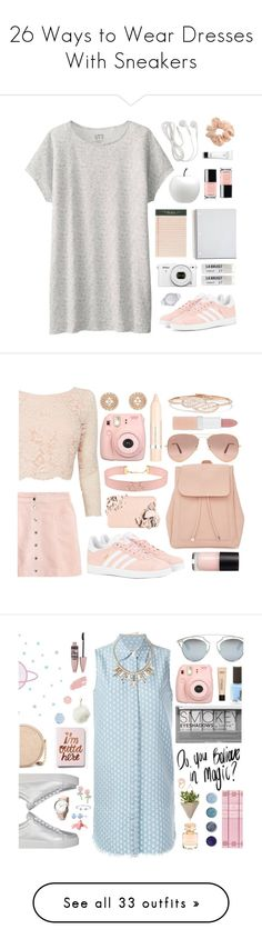 """26 Ways to Wear Dresses With Sneakers"" by polyvore-editorial ❤ liked on Polyvore featuring dresses, sneakers, waystowear, adidas Originals, Uniqlo, CB2, Marc by Marc Jacobs, Rifle Paper Co, Toast and Topshop"