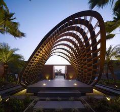Unique Modern Covered Pergola Design