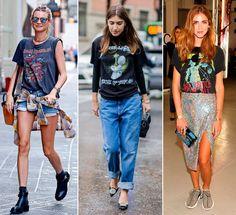 c33fddb932 Guía de estilo  Cómo vestir una camiseta  rock-band  en 10  looks