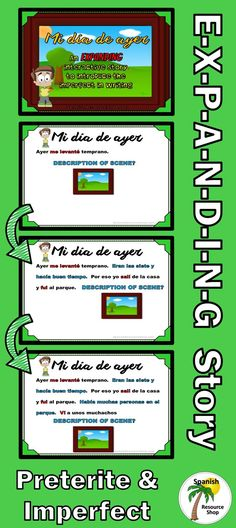 Fun way to learn to write in the preterite and imperfect!  Story literally  E-X-P-A-N-D-S!!
