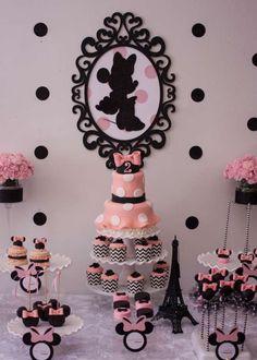 Paris inspirited dessert table