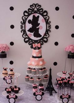 Paris inspirited dessert table