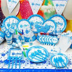 儿童生日派对用品 创意套装生日装扮用品 baby男孩主题 6人装-淘宝网