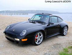 A very clean, black Porsche 993 Carrera 4S with MY02 Carrera wheels. #everyday993 #Porsche