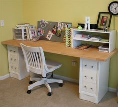 Home-Dzine - Hollow core door makes a great home office desk