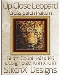 Up Close Leopard Cross Stitch Pattern