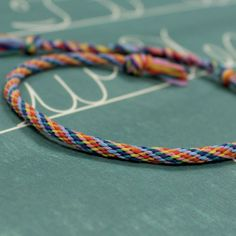 Friends Forever Jumbo Rainbow Bracelet : A colourful and customizable supersized friendship bracelet DIY! Crafty Projects, School Projects, Micro Macrame, Girls Club, Friends Forever, Friendship Bracelets, Rainbow, Embroidery, How To Make