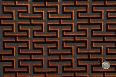 Mood Fabrics : New York Fashion Designer Discount Fabric | HV21550 Black/Orange Geometric Velvet