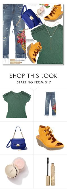 """Army Green - T - Shirt"" by svijetlana ❤ liked on Polyvore featuring Dolce&Gabbana, Clarks, Stila, armygreen and zaful"